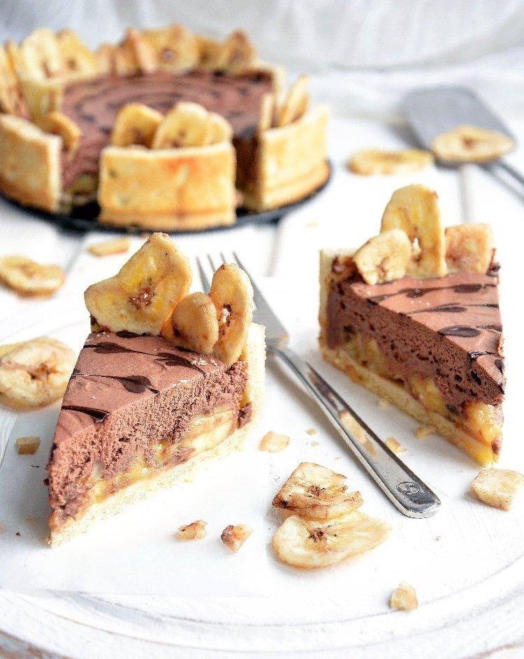 Шоколадно-банановый тарт 🍌