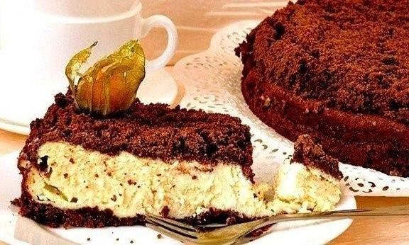 Шоколадно-творожный торт