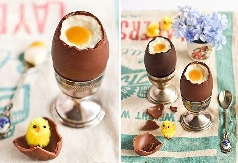 Шоколадные яйца с начинкой «чизкейк»