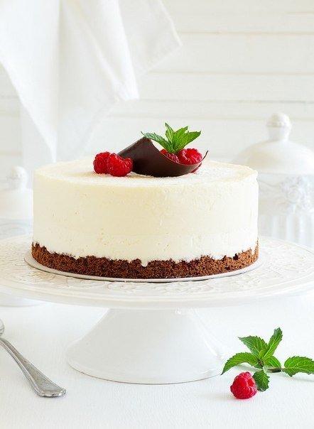 Сливочно-малиновый торт-суфле 🌺