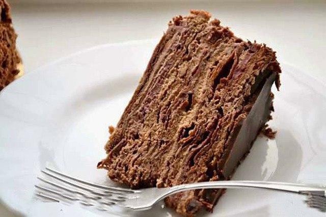 Торт Наполеон шоколадный