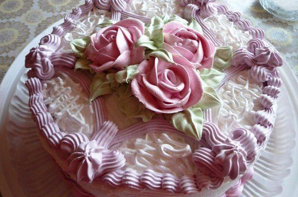 Торт шифоновый бисквит с кремом Мокрое безе