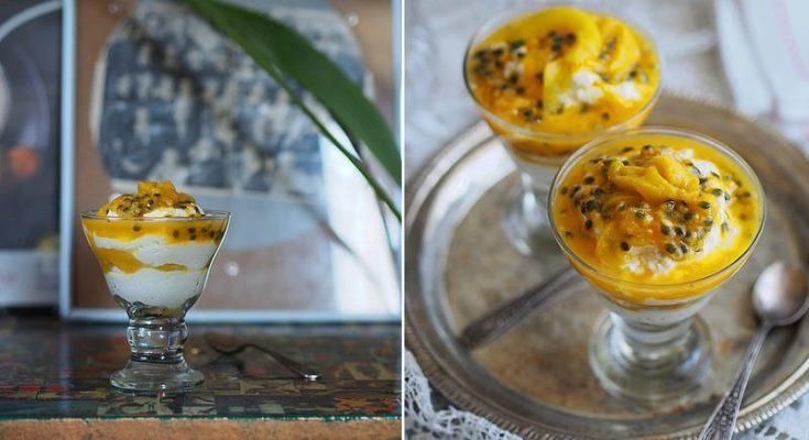 Творожный крем с маракуйей и манго