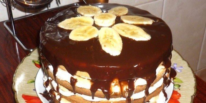 Банановый торт: рецепты