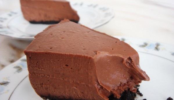 Диетический Шоколадный чизкейк без выпечки