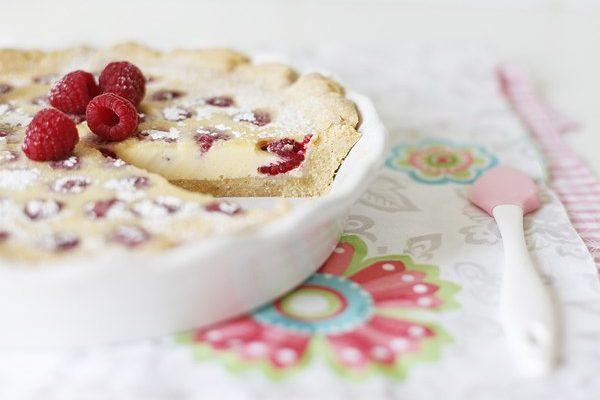 Малиновый пирог с белым шоколадом