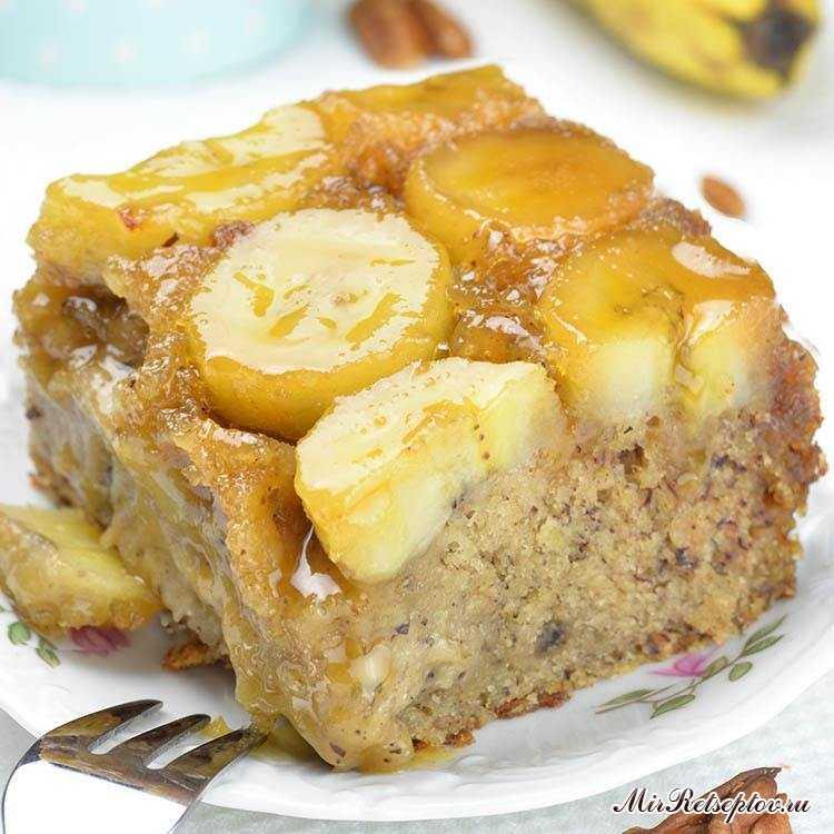 Банановый торт с торца