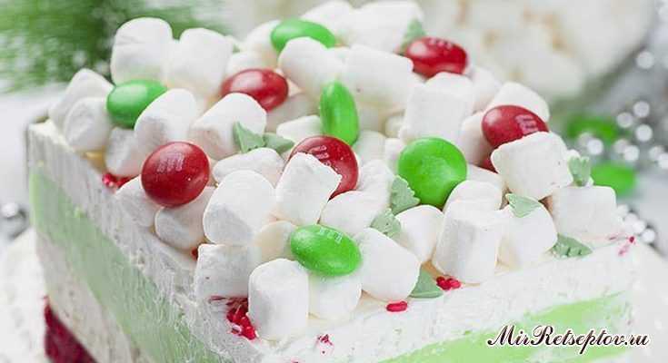 Рождественский мятный торт