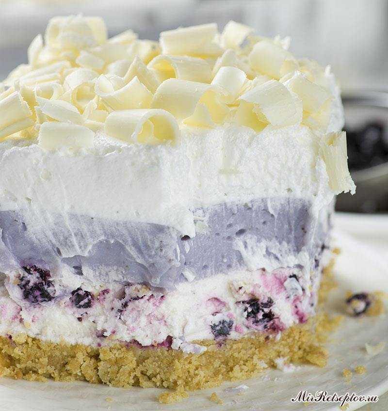 Черничный торт с белым шоколадом