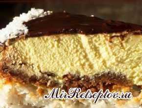 Торт Баунти в шоколадной глазури