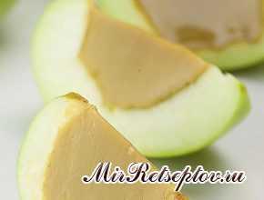 Карамельное яблоко с желе