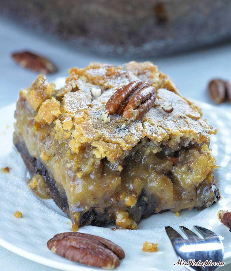 Шоколадно-ореховый торт-пирог