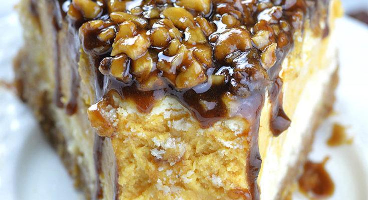 Чизкейк из сладкого картофеля с ореховой начинкой