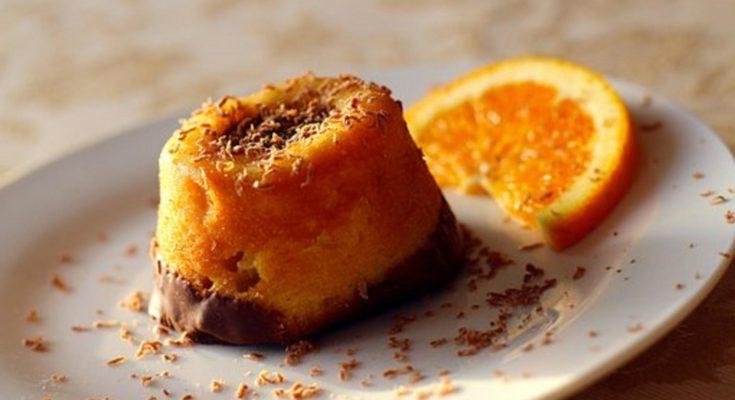Десерт из апельсиновой губки