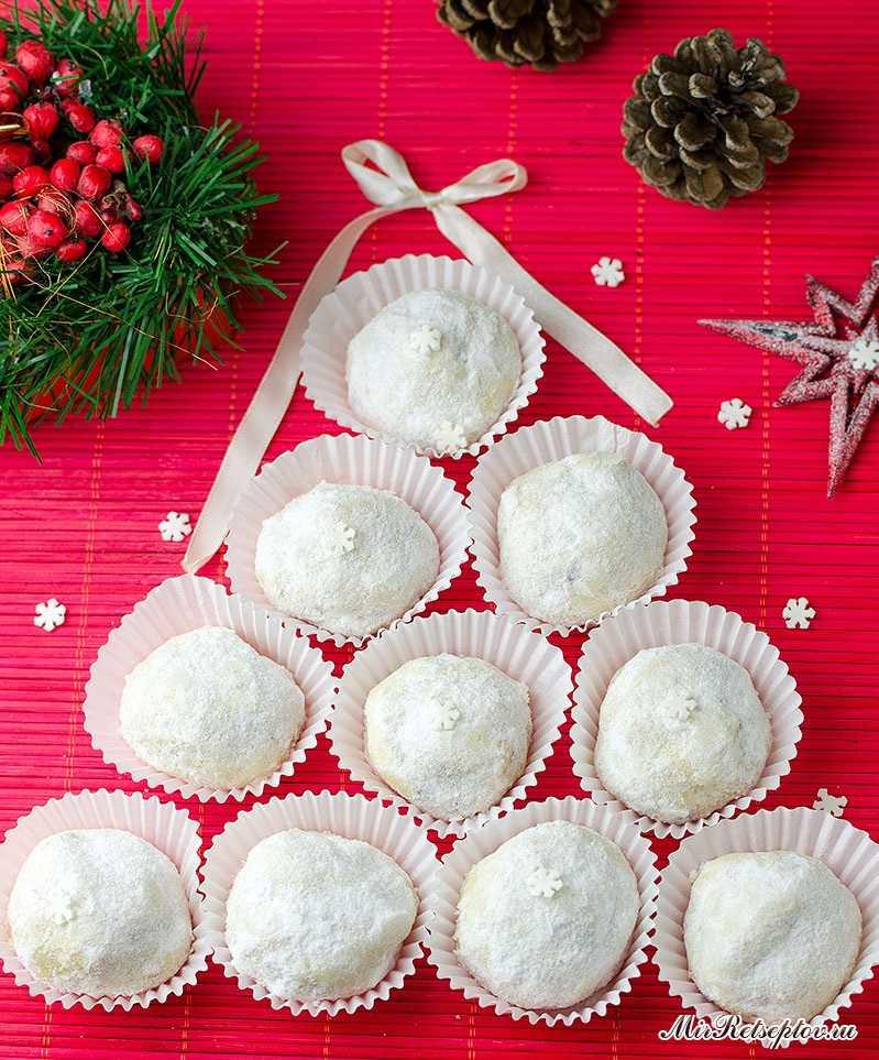 Рождественские снежные печенья