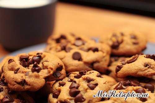 Очень вкусное овсяное печенье с шоколадом