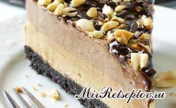 Шоколадный чизкейк из арахисового масла без выпечки