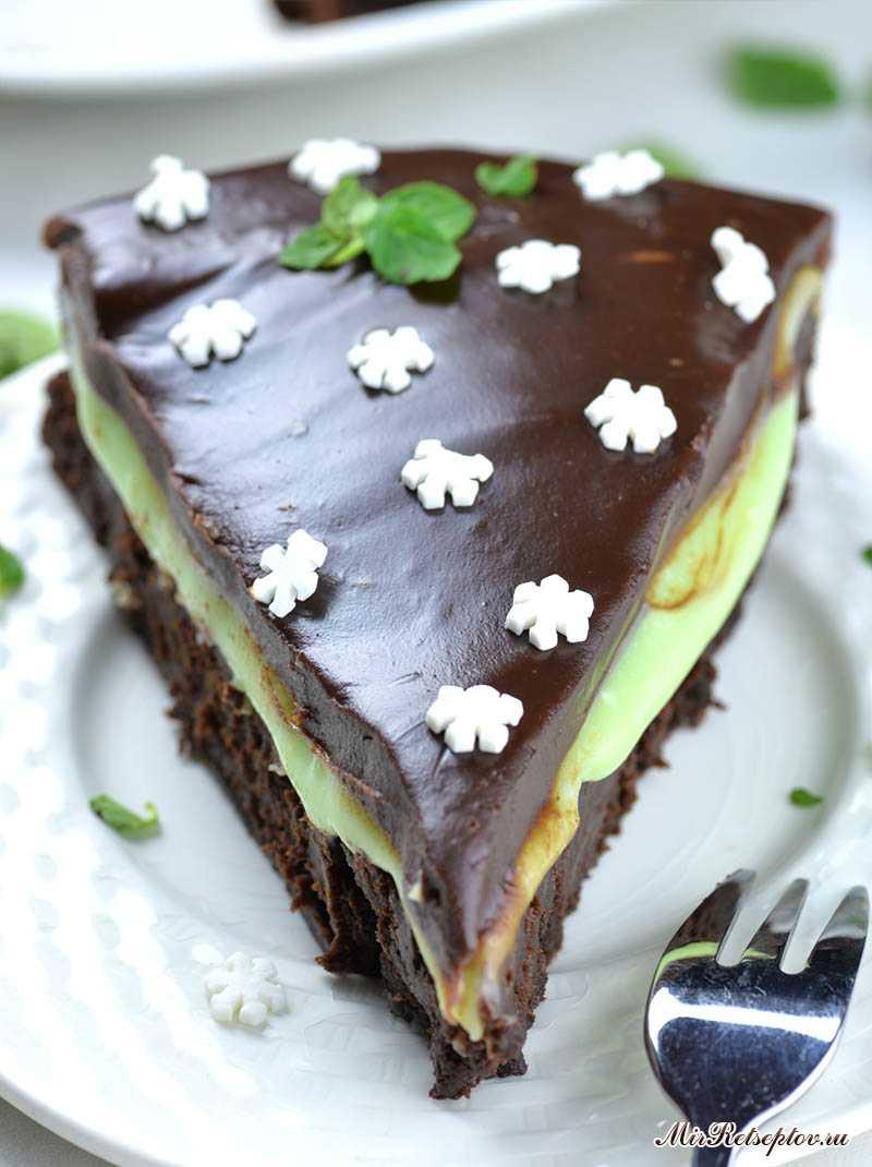 Мятный шоколадный торт
