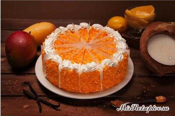 Торт Манго-маракуйя с кремом-чиз