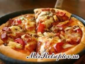 Как приготовить пиццу с колбасой на сковороде за 10 минут?