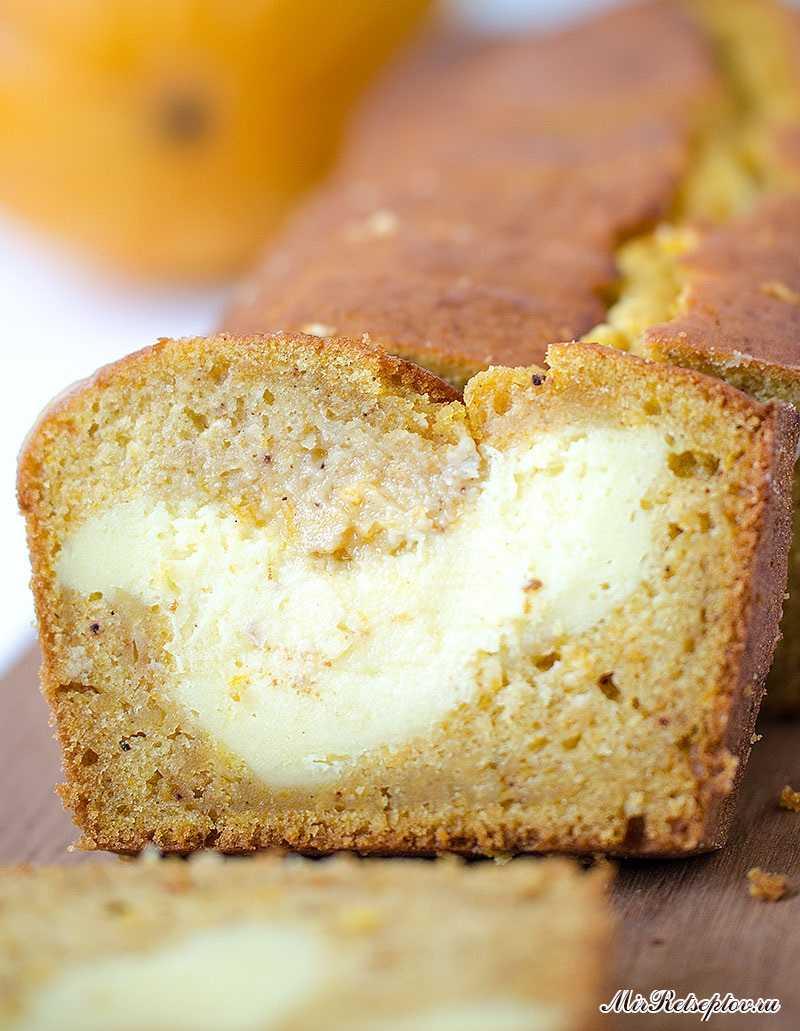 Хлеб со сливочным сыром и тыквой