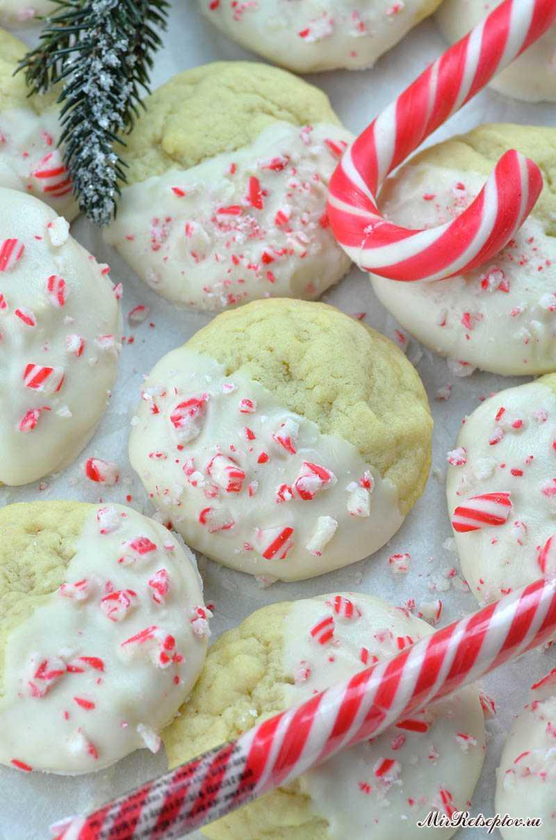 Мятное хрустящее сахарное печенье