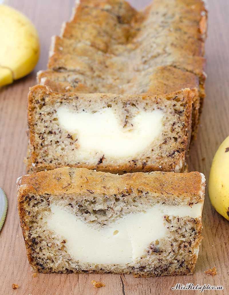 Сливочный сыр с банановым хлебом