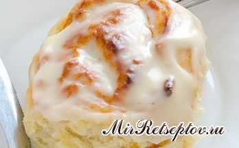 Тыквенные булочки с корицей и глазурью из сливочного сыра