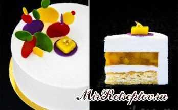 Торт «Exotic fancy» кокос-ананас-банан-манго-маракуйя