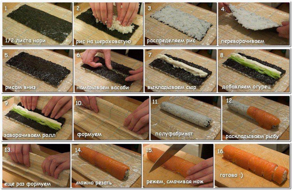 как сделать суши и роллы дома видео - 11