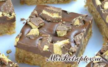 Шоколадные батончики с арахисовым маслом