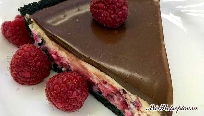 Малиновый шоколадный чизкейк