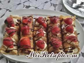 Десертные блинчики