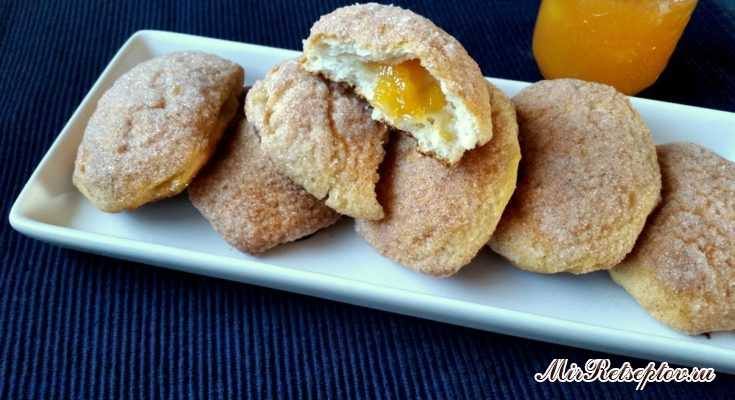 Печенье с персиковым джемом