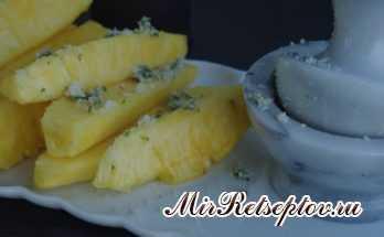 Сахарная мята Розеллы посыпанный ананасом