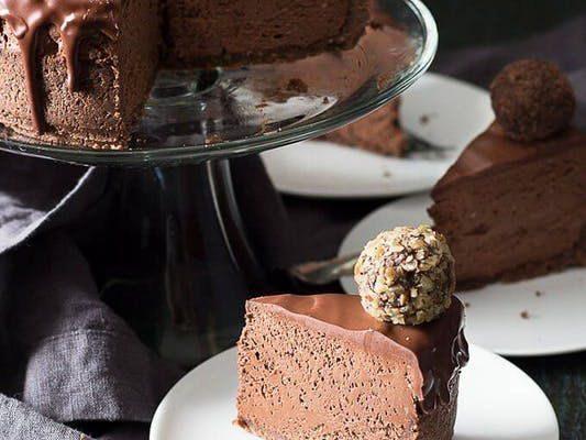 """""""Шоколадный чизкейк без выпечки"""" с трюфелями"""