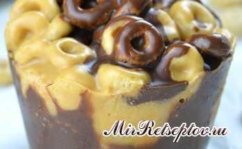 Шоколадные чашки Cheerios арахисового масла