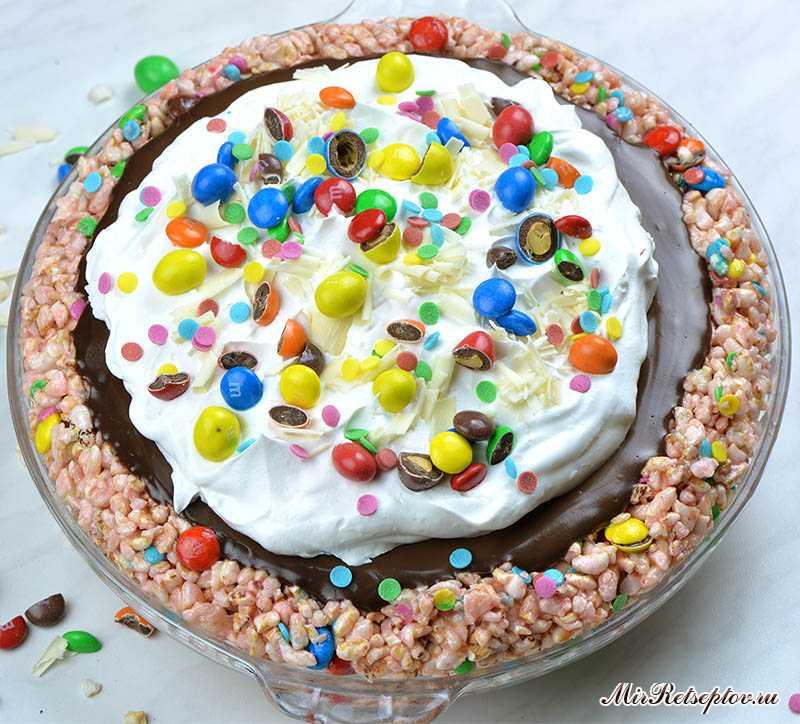 Пасхальный шоколадный пирог без выпечки