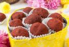 Шоколадные трюфели с маракуйей