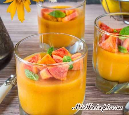 Персиково-апельсиновое желе