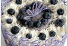 Черничный торт с шоколадной клеткой
