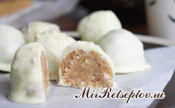 Арахисовые трюфели в белом шоколаде
