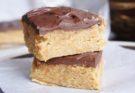 Арахисовые квадратики с тёмным шоколадом