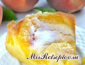 Легкий персиковый торт