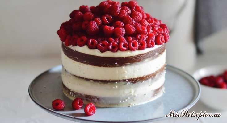 Наивкуснейший ванильный торт с ягодной начинкой